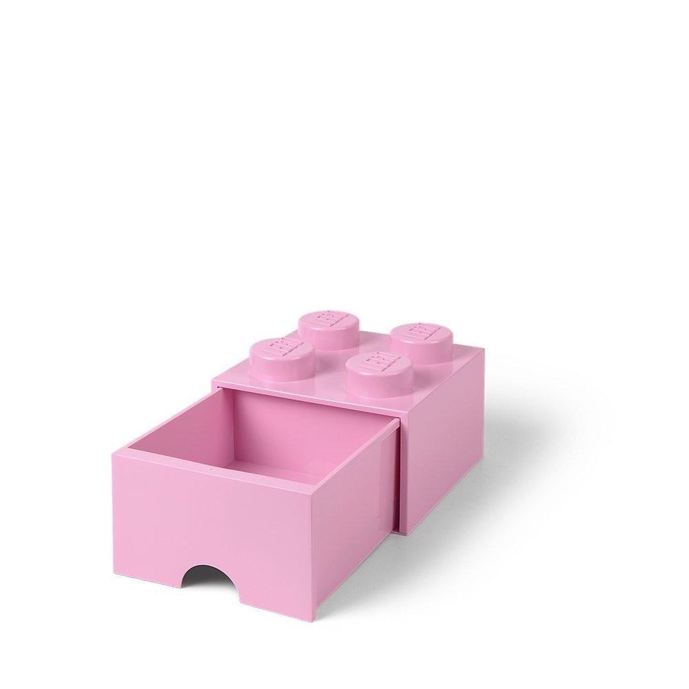 Storage Brick Drawer (4-Stud Bright Pink)