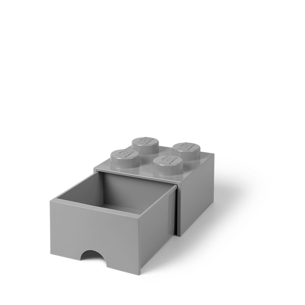 Storage Brick Drawer (4-Stud Light Bluish Gray)