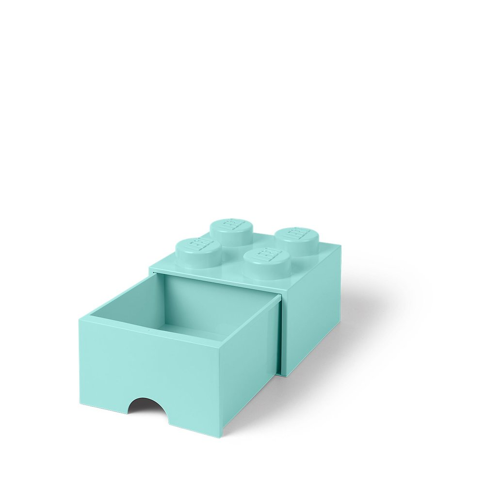 Storage Brick Drawer (4-Stud Aqua)