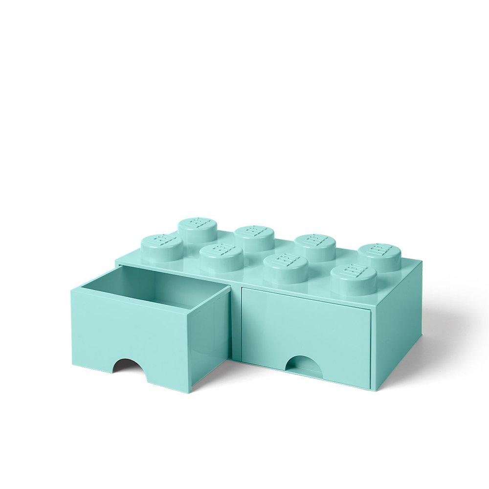 Storage Brick Drawer (8-Stud Aqua)