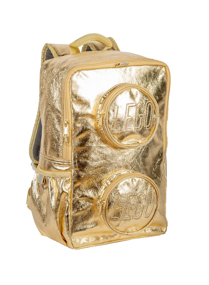Brick Backpack (Gold Metallic)