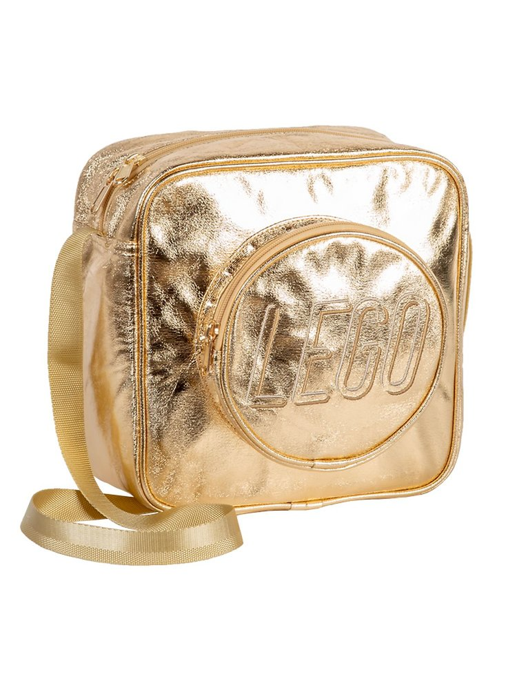 Brick Crossbody Bag (Gold Metallic)