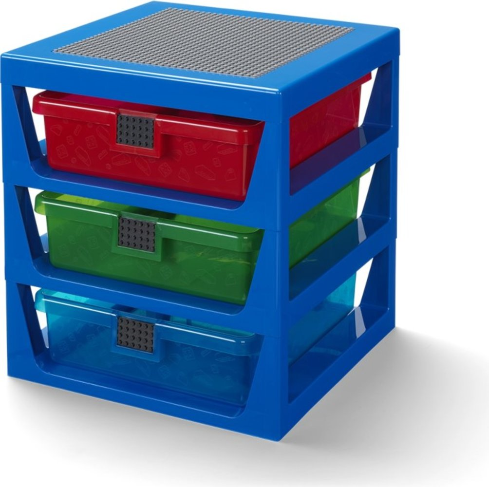 3-Drawer Storage Rack (Transparent Blue)