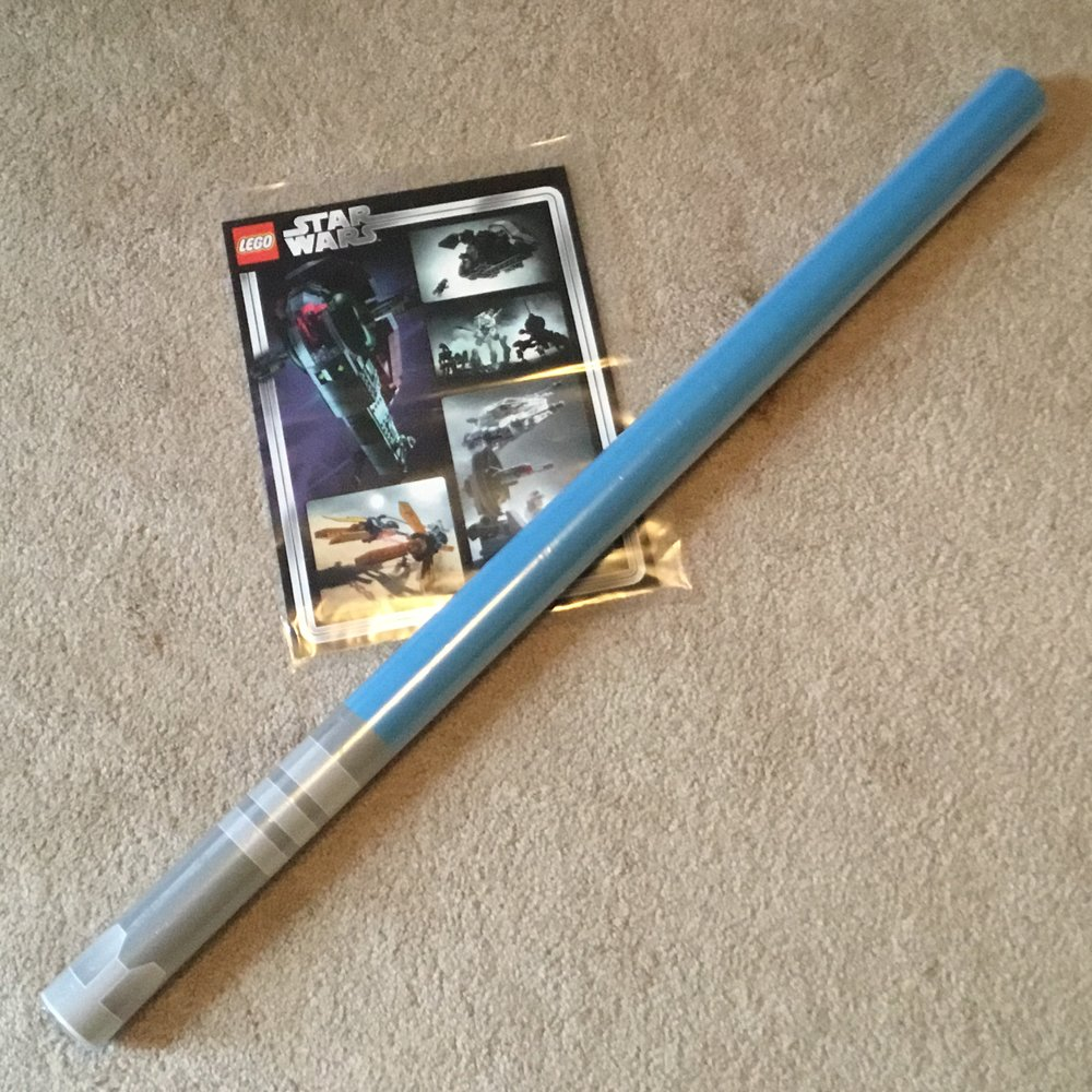 Star Wars 20th Anniversary Lightsaber Poster (Blue)