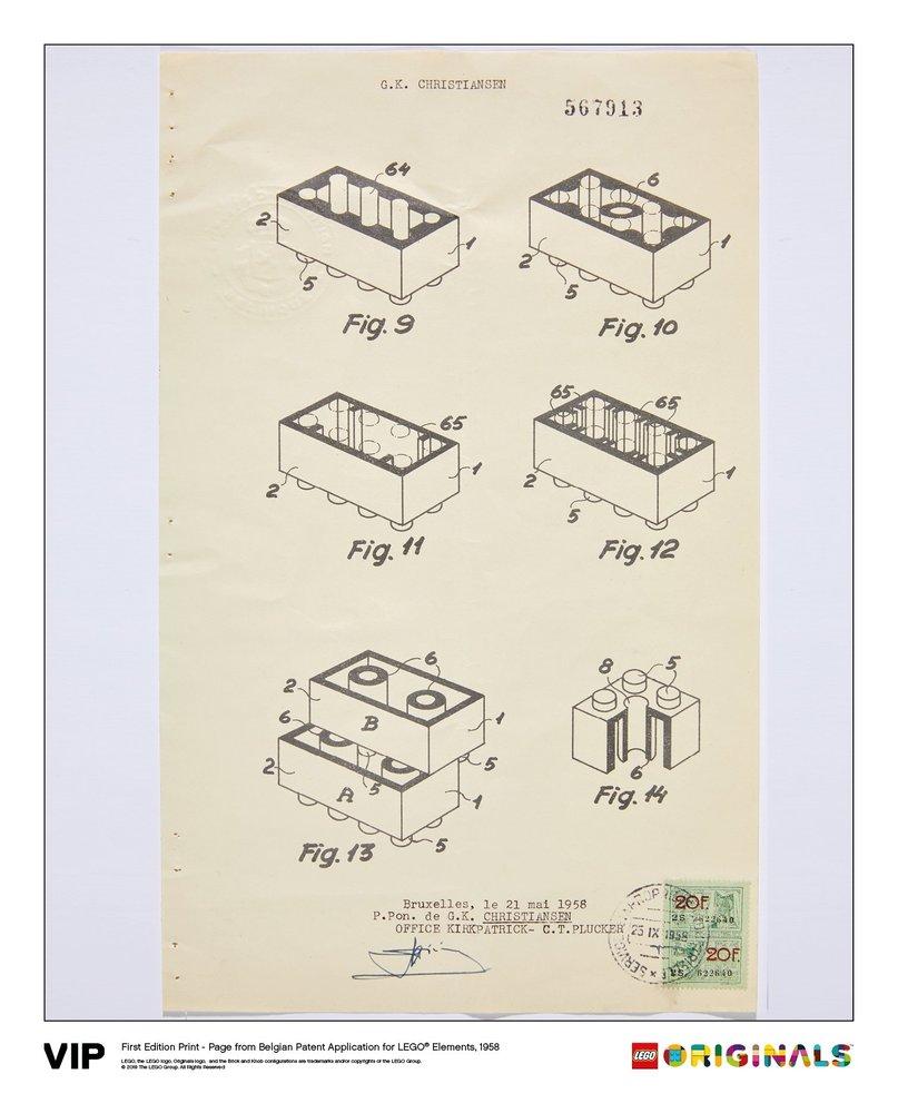 Belgian Patent LEGO Elements 1958