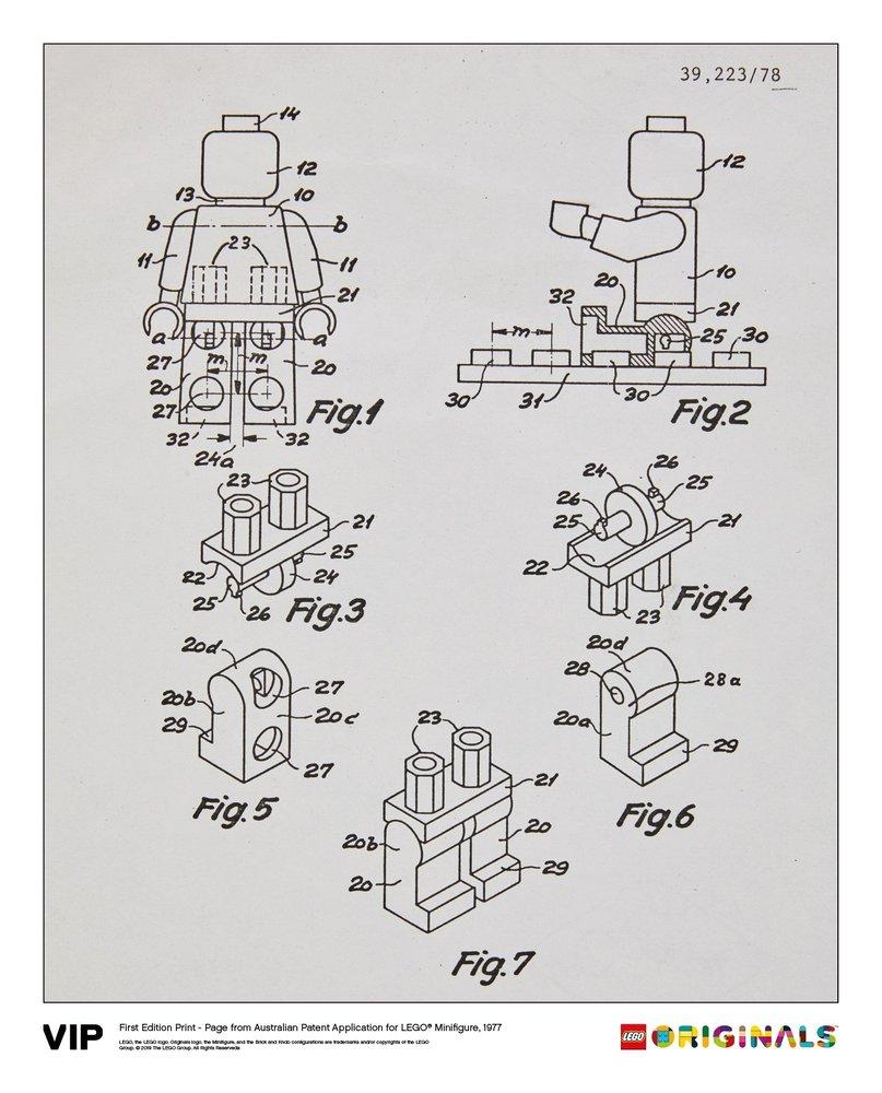 Australian Patent LEGO Minifigure 1977