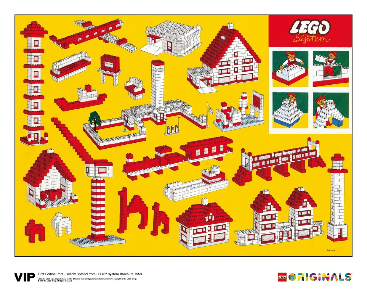 Yellow Spread LEGO System Brochure 1958