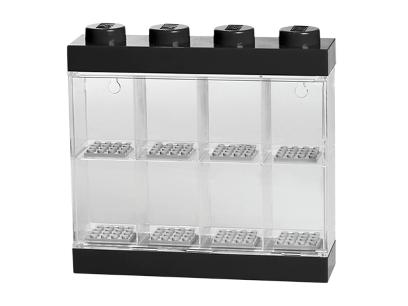 Minifigure Display Case 8 (Black)