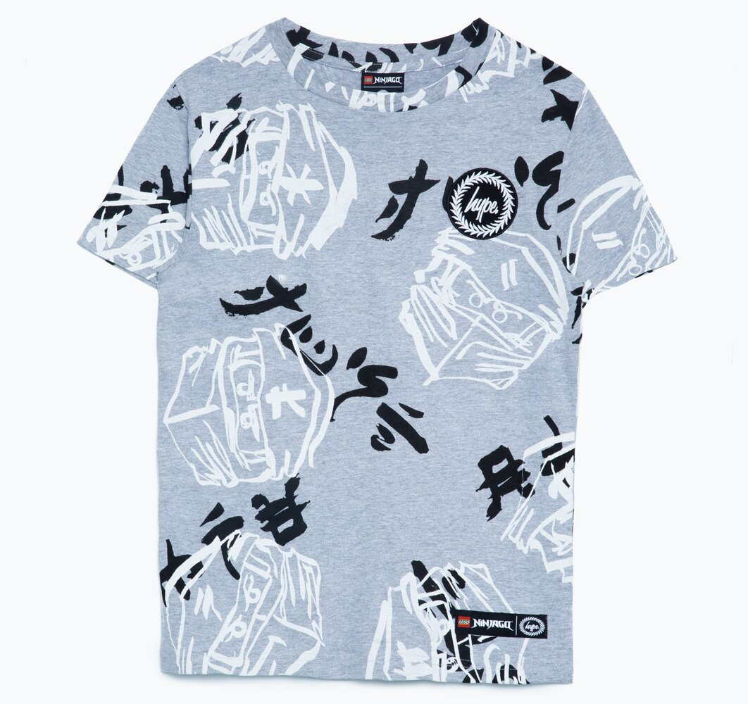 HYPE X LEGO NINJAGO Gray Just Hype Faces T-Shirt