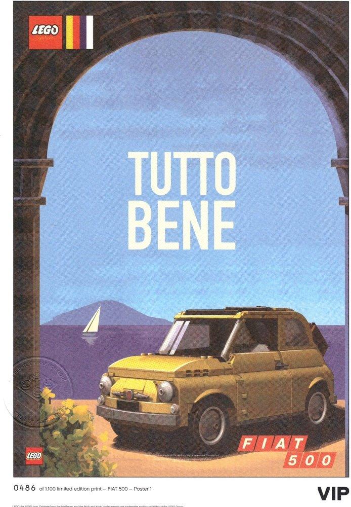 """Fiat Art Print: """"Tutto Bene"""""""