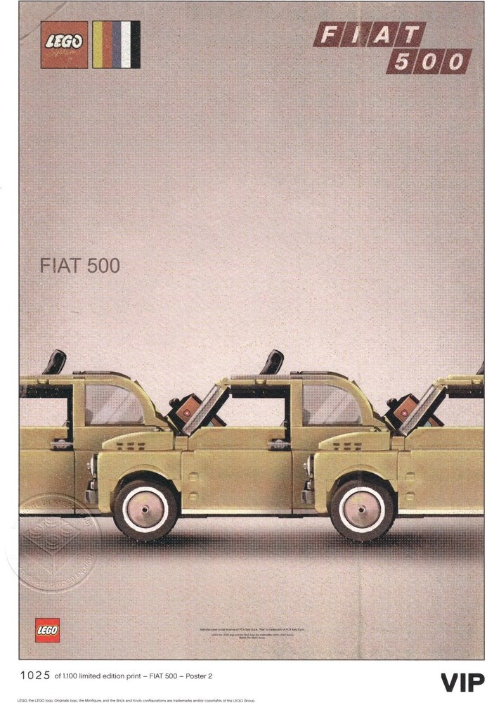 "Fiat Art Print: ""Three Cars"""