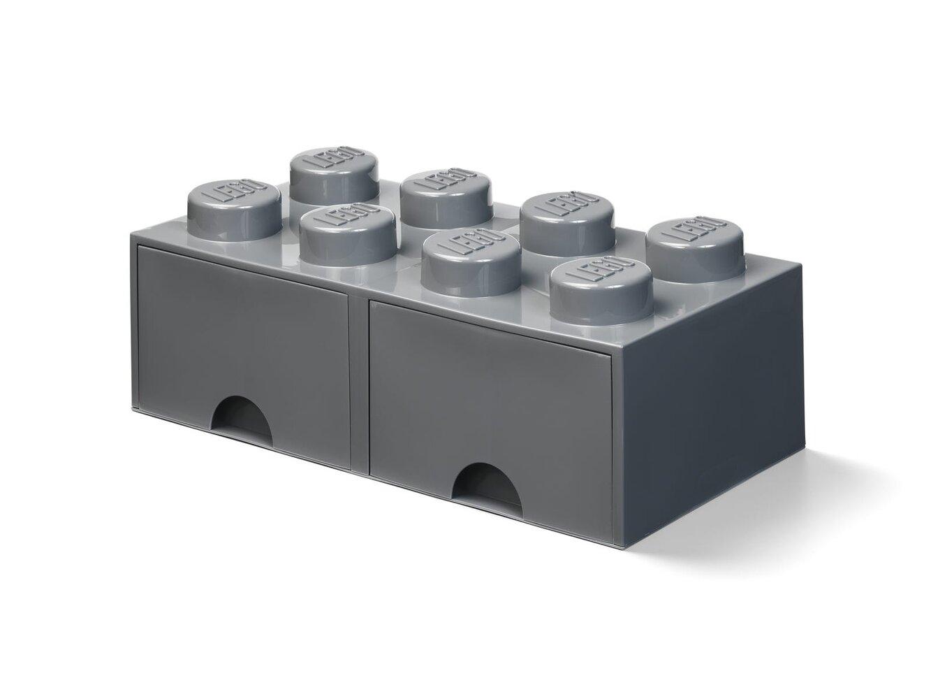 Storage Brick Drawer (8-Stud Dark Bluish Gray)