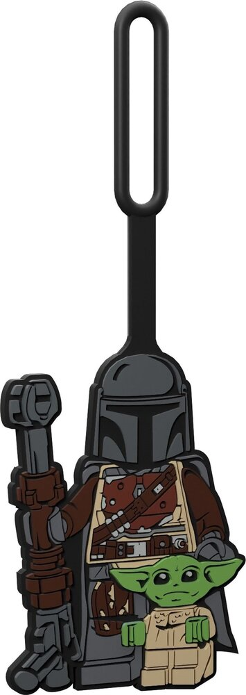 The Mandalorian with The Child Bag Tag