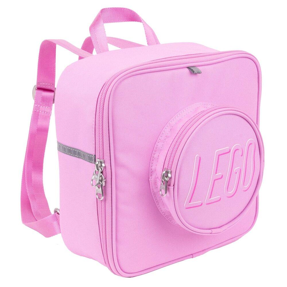 Small Brick Backpack (Bright Pink)