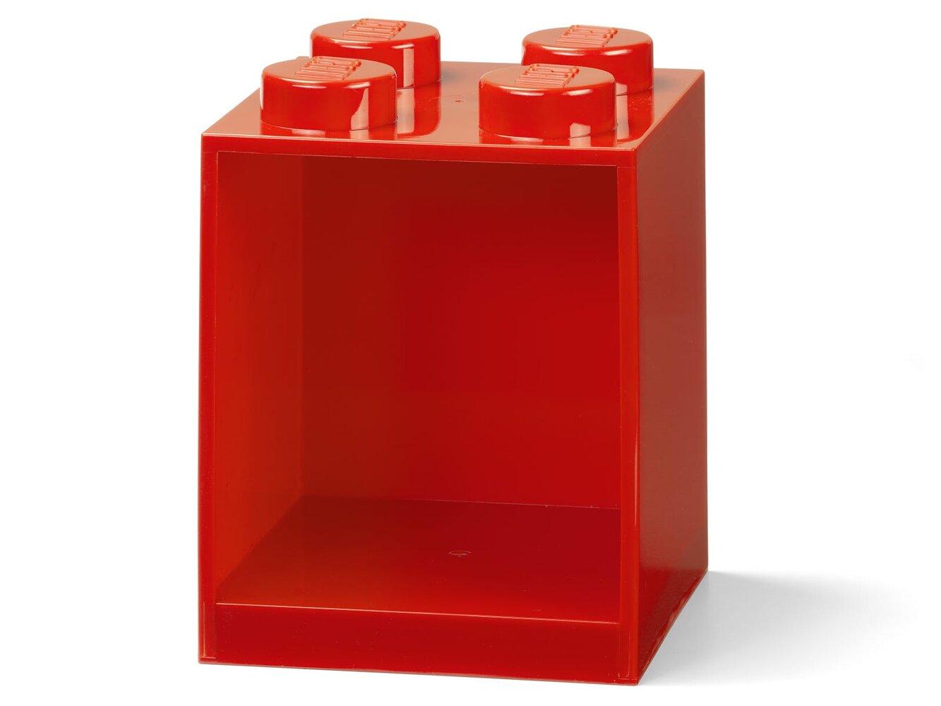 Brick Shelf 4 Knobs (Bright Red)