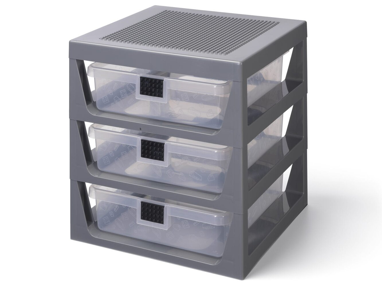 3-Drawer Storage Rack (Gray)