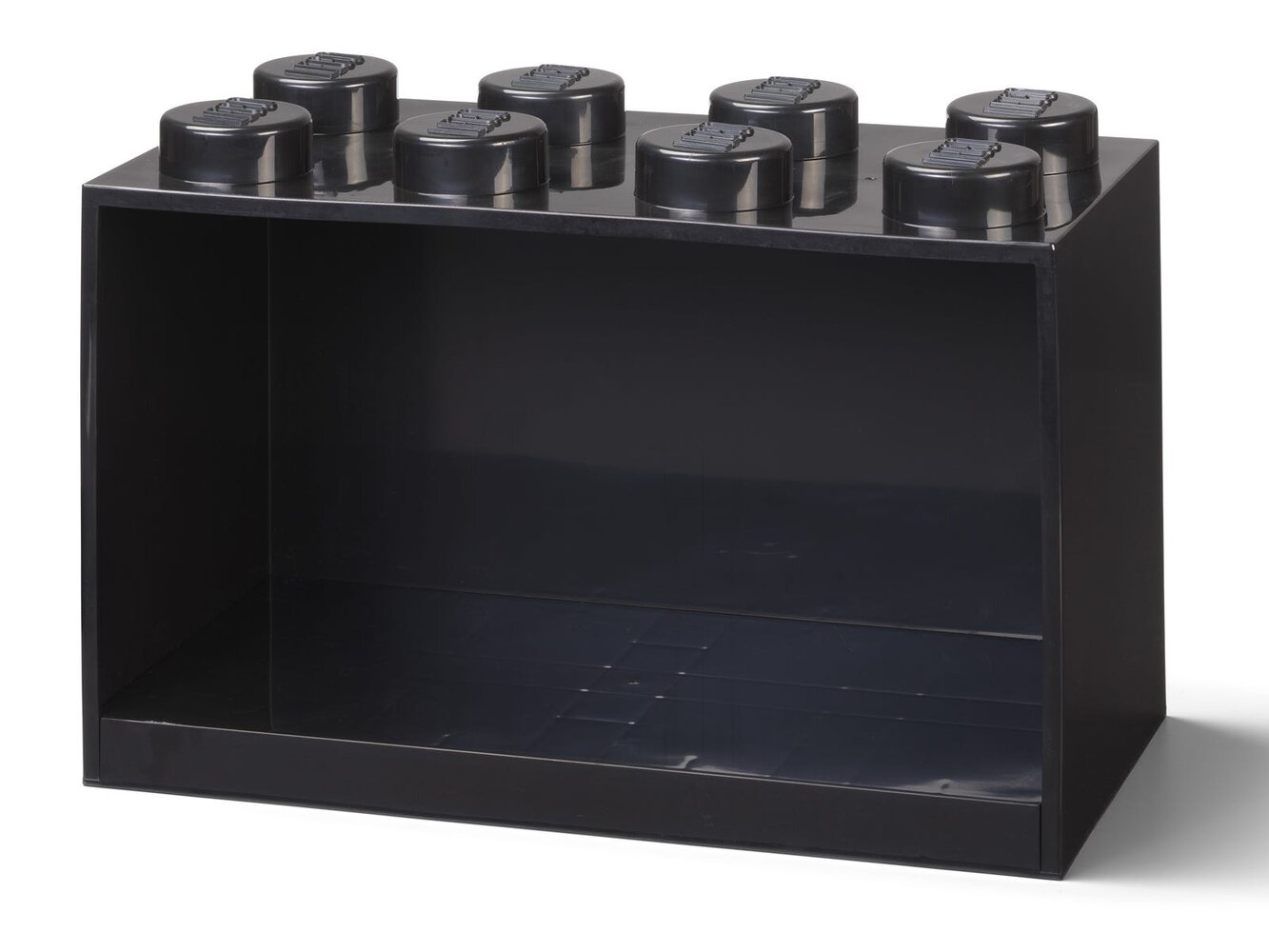 Brick Shelf 8 Knobs (Black)
