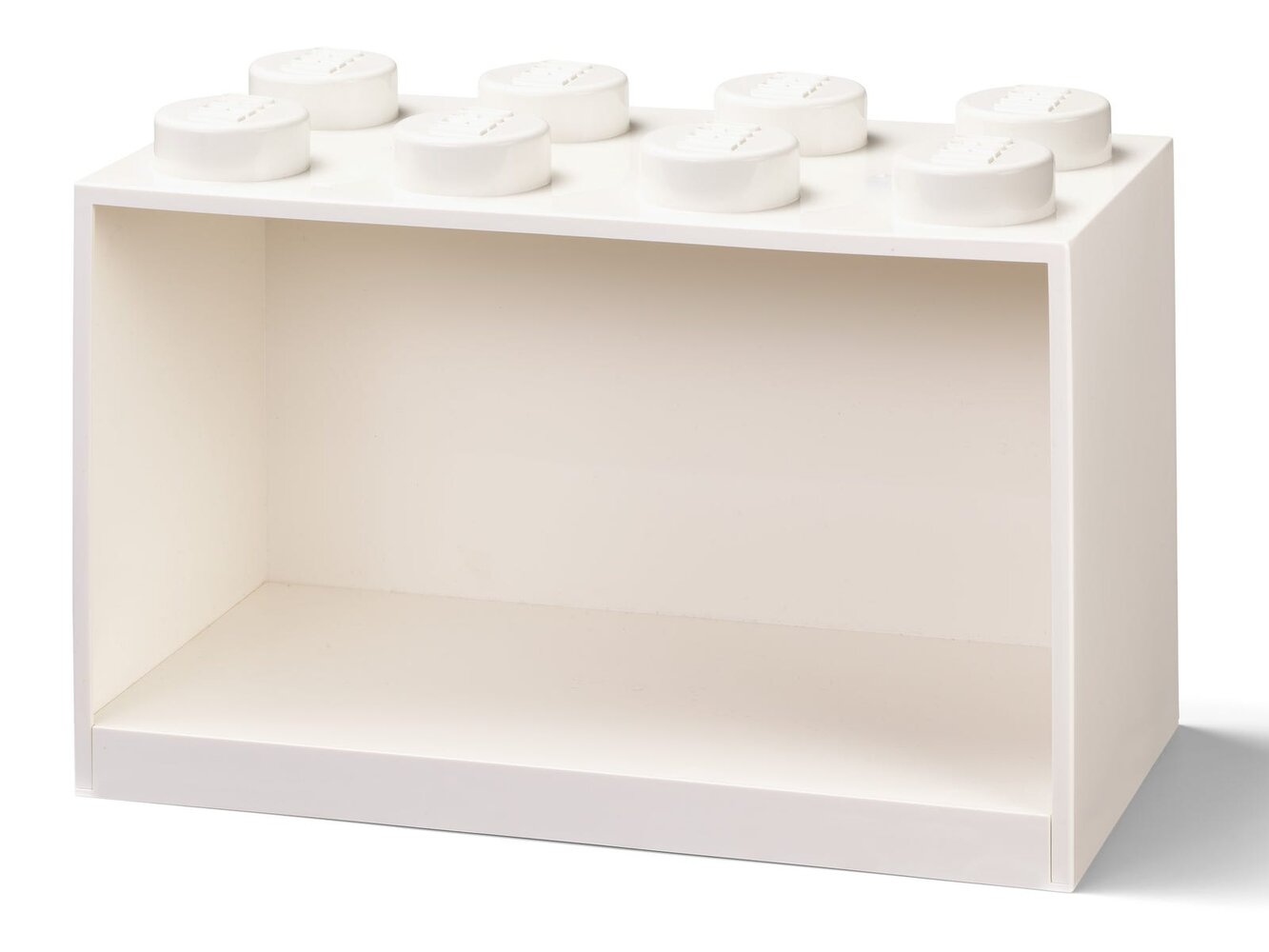 Brick Shelf 8 Knobs (White)
