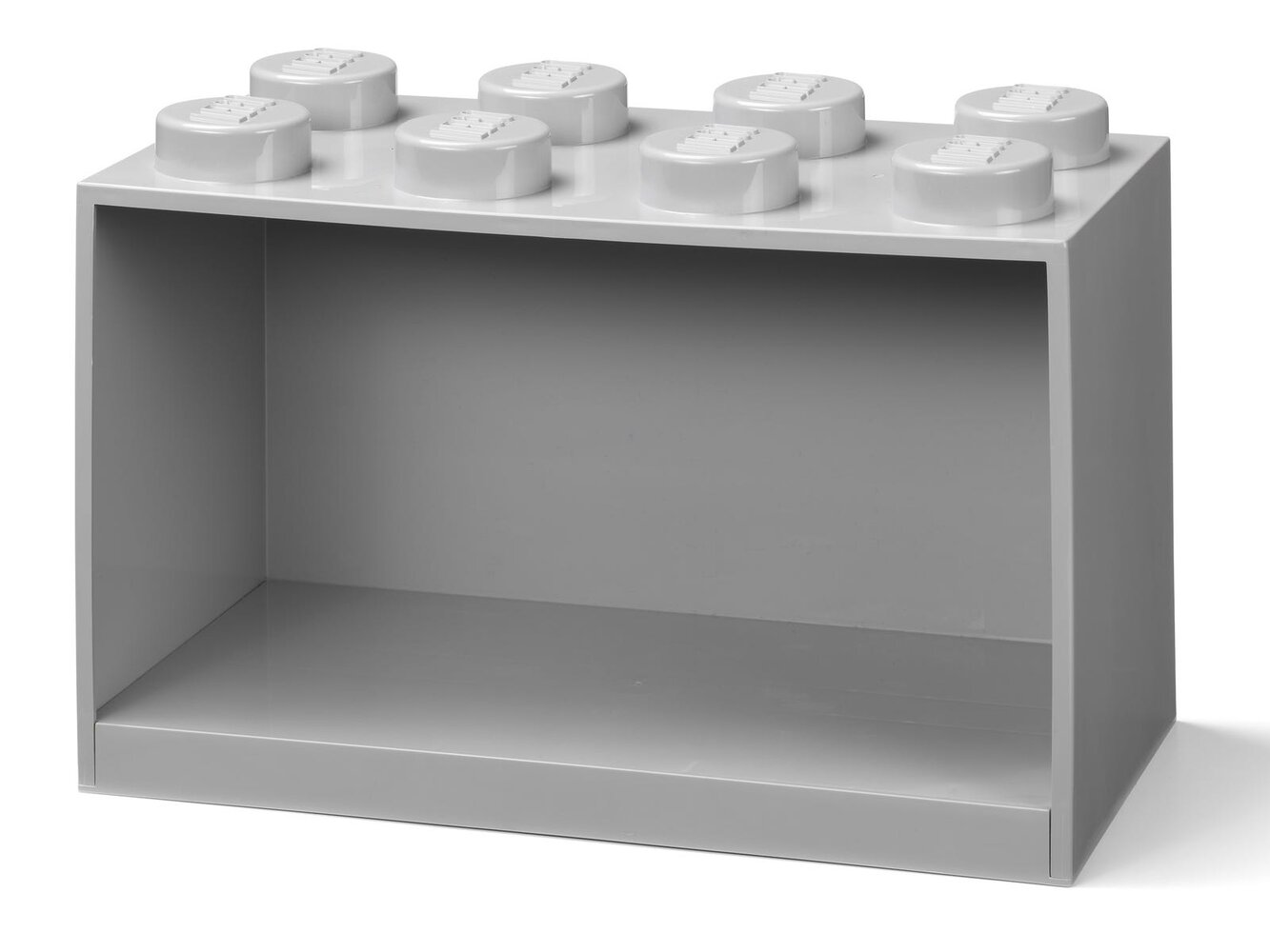 Brick Shelf 8 Knobs (Gray)