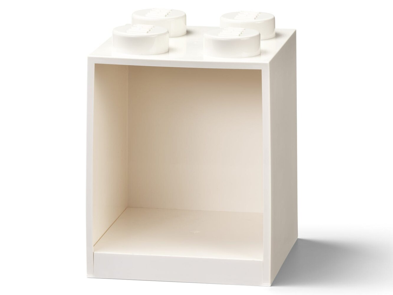 Brick Shelf 4 Knobs (White)