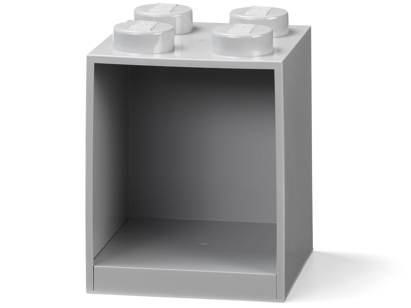 Brick Shelf 4 Knobs (Gray)