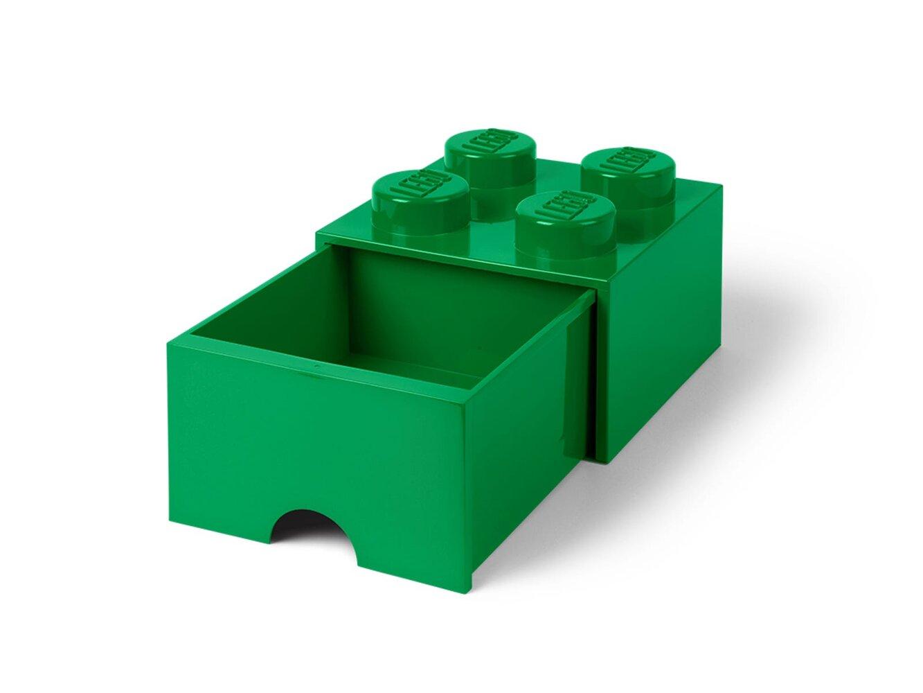 Storage Brick Drawer (4-Stud Green)