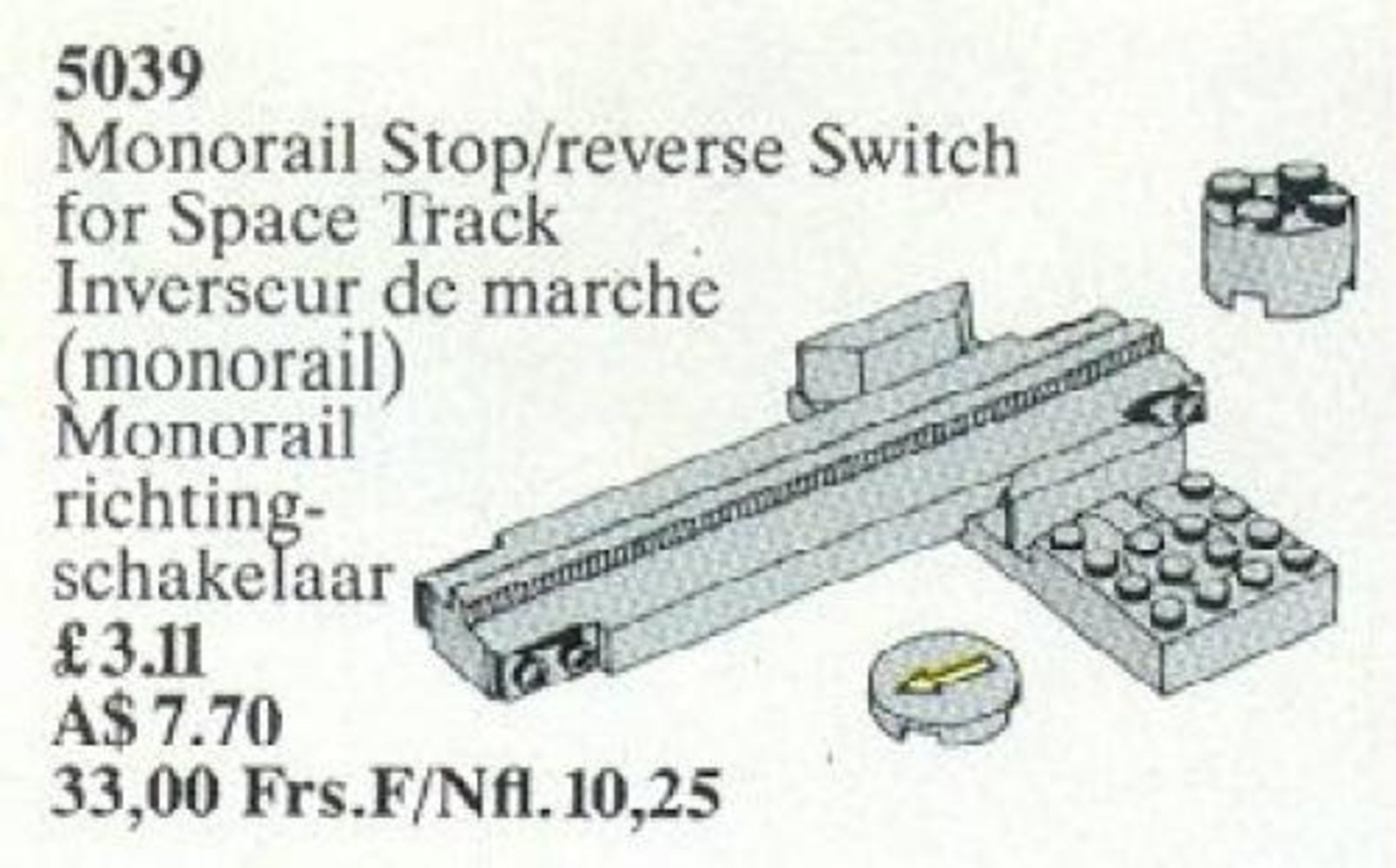 Monorail Stop / Reverse Switch