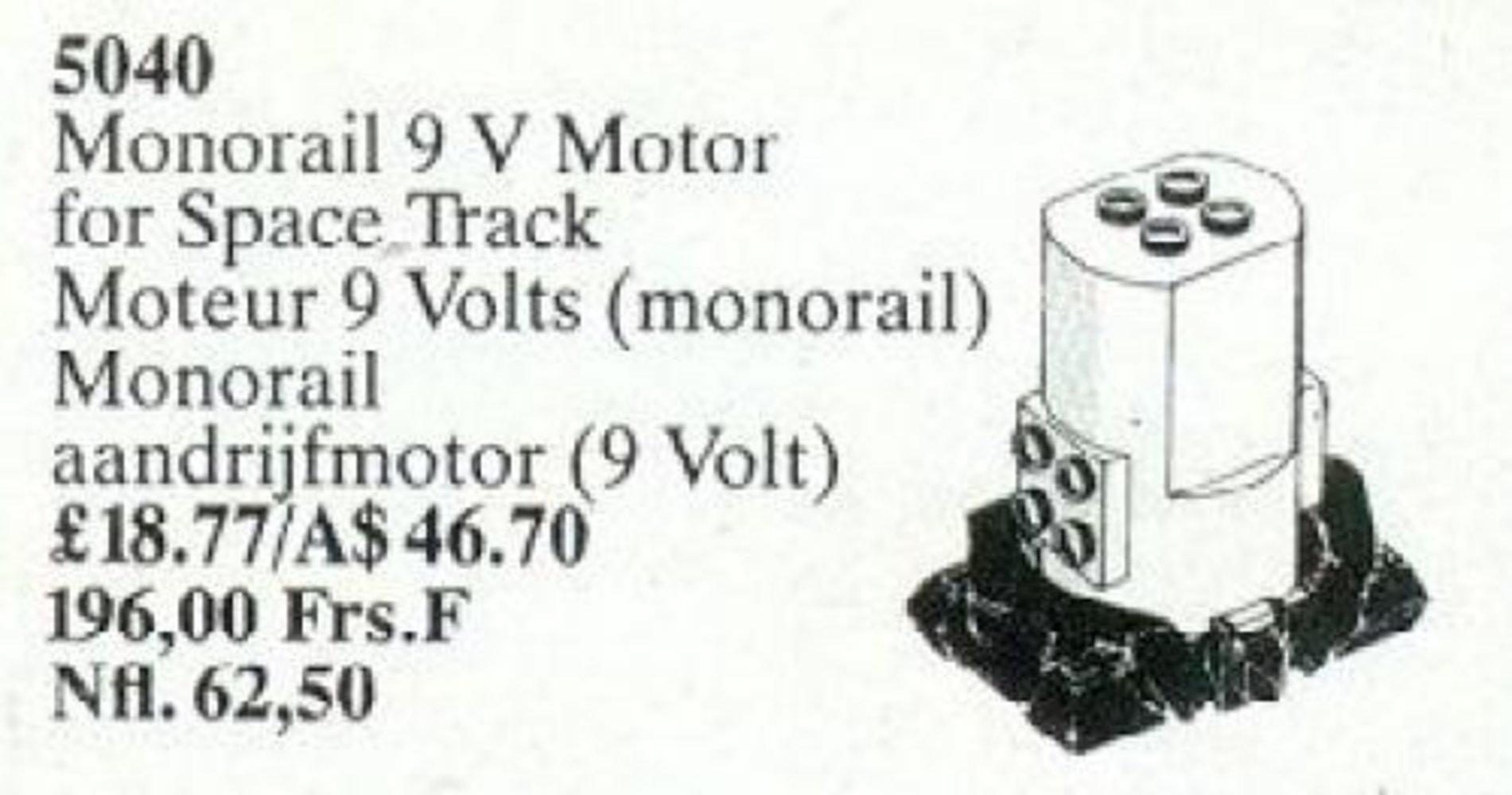 Monorail 9V Motor