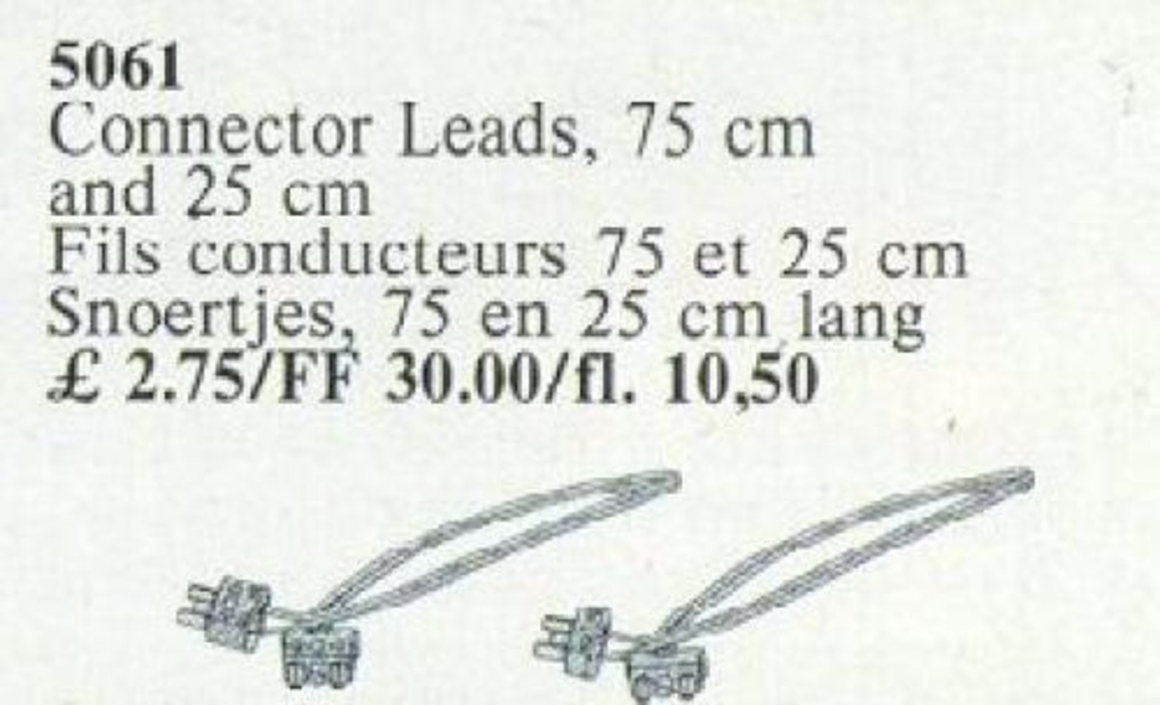 Connector Leads, 75cm and 25cm