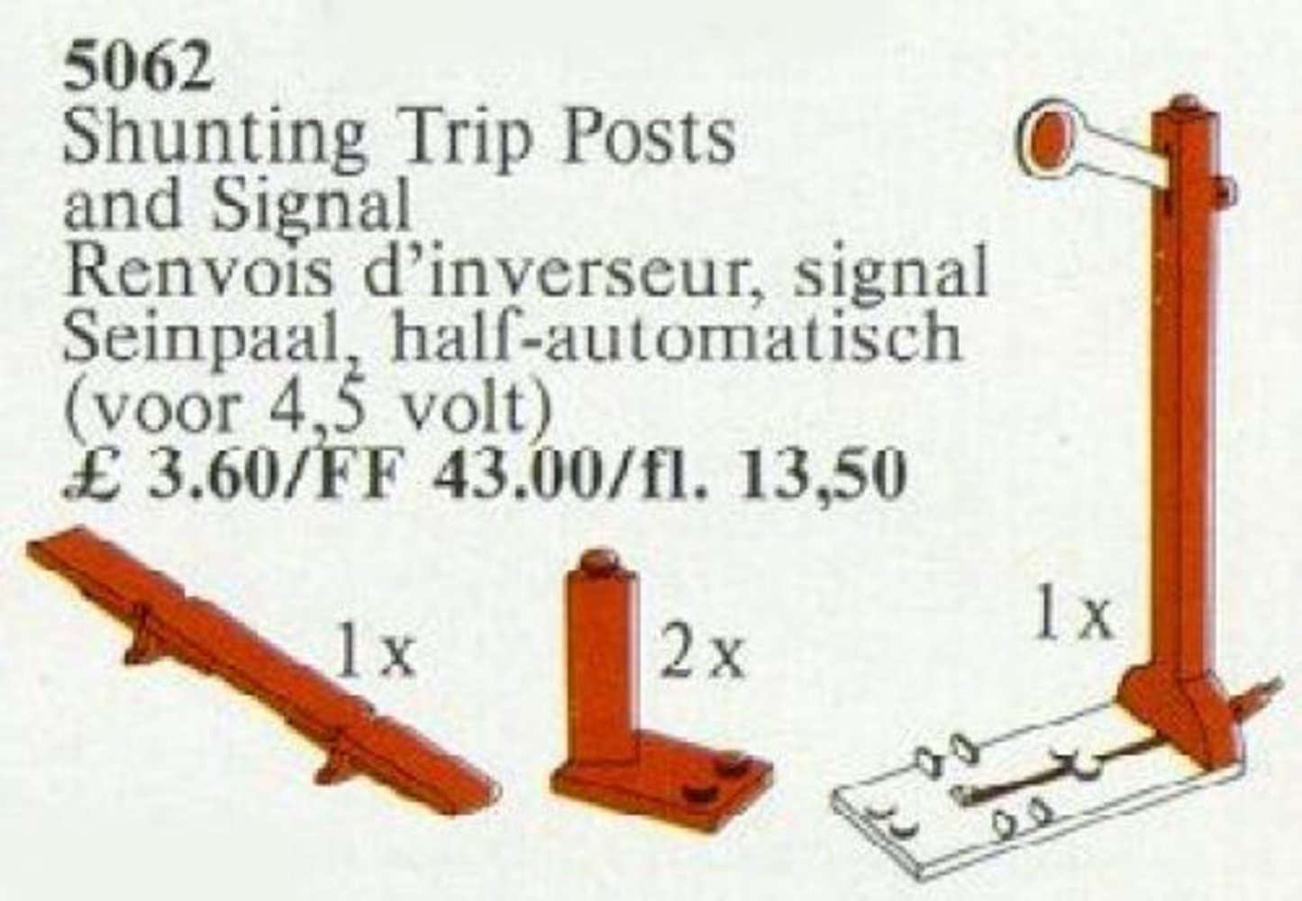 Shunting Trip Posts and Signal