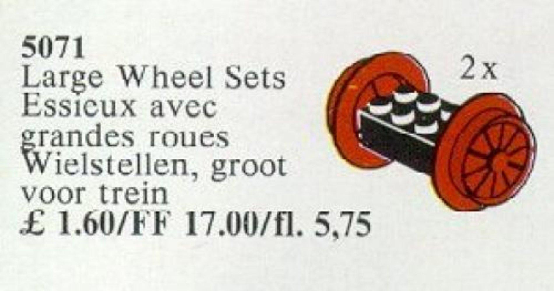 Wheel Sets, Large, Red
