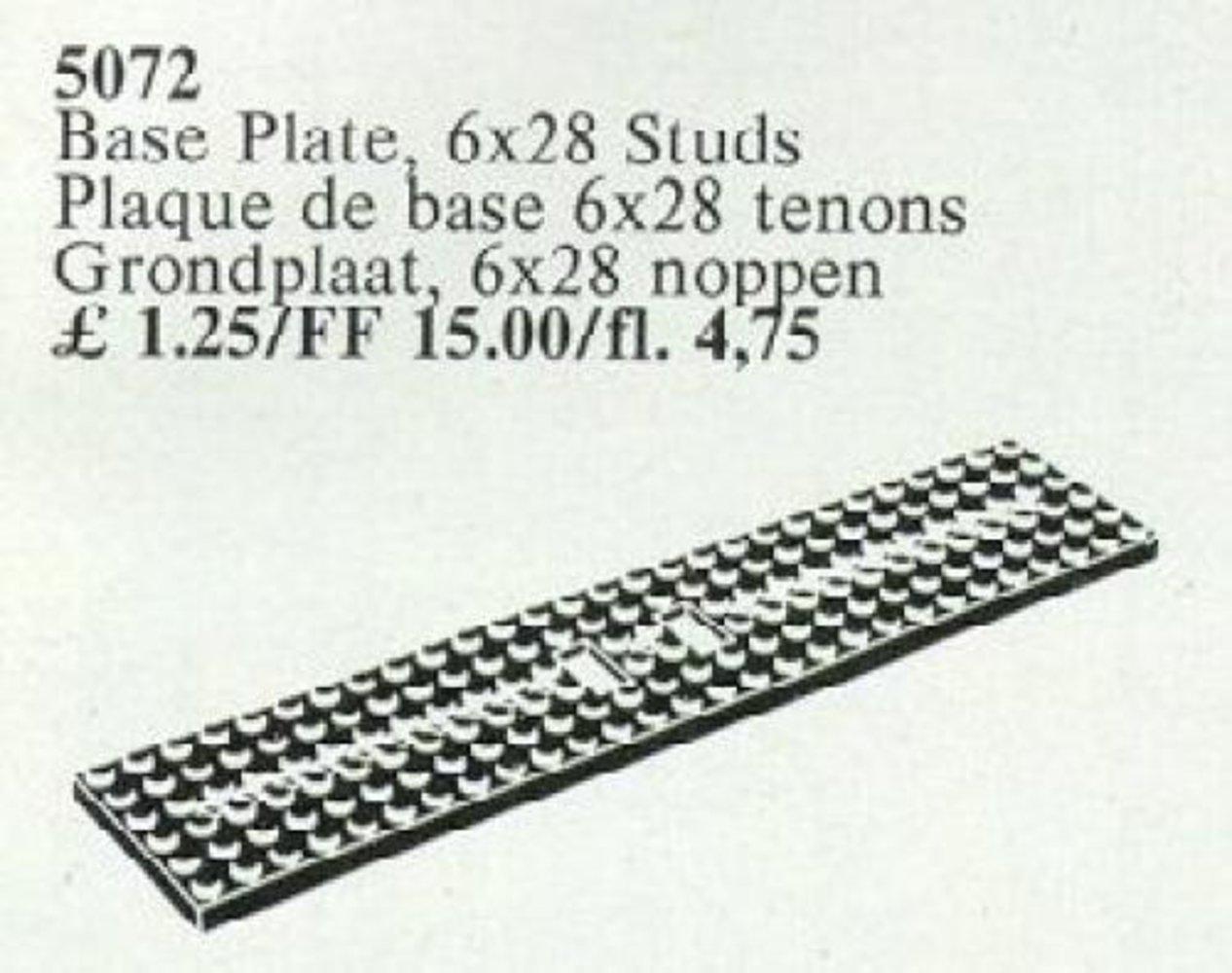 Wagonplate, 6 x 28 Studs