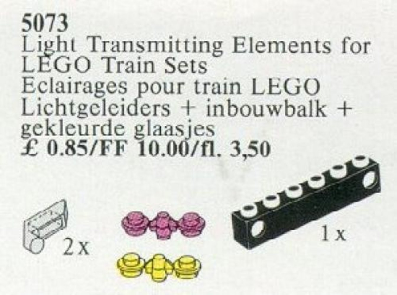 Light Transmitting Elements for Train Sets