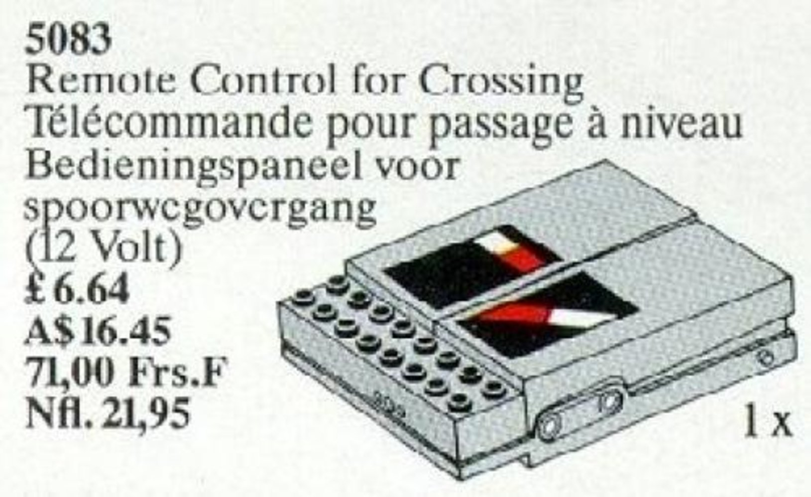 Remote Control for Crossing