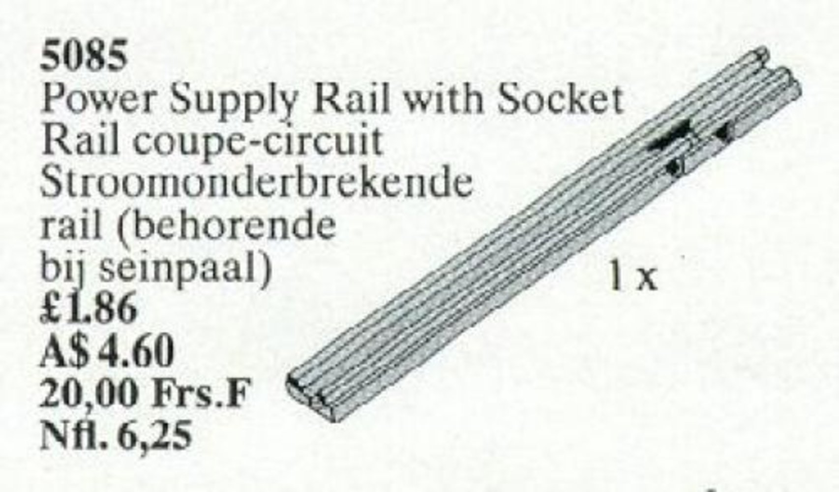Power Supply Rail with Socket