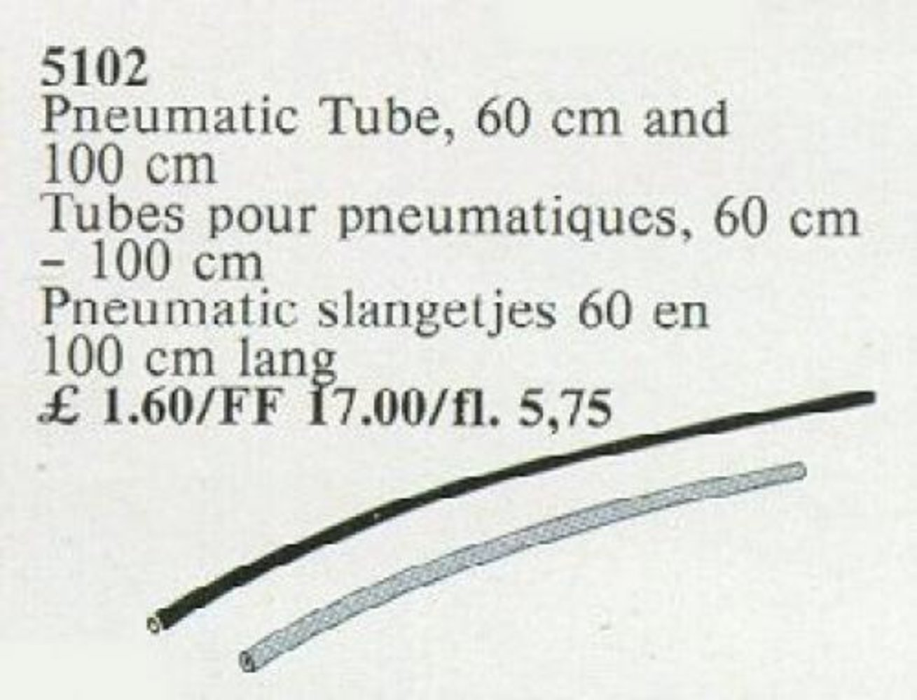 Pneumatic Tube, 60 cm and 100 cm