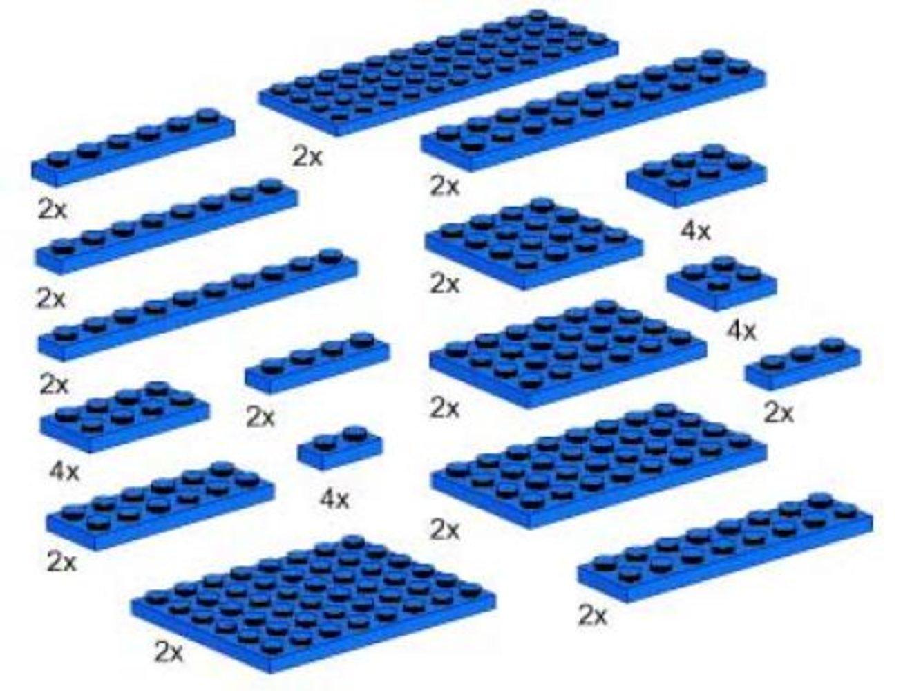 Plates, Blue