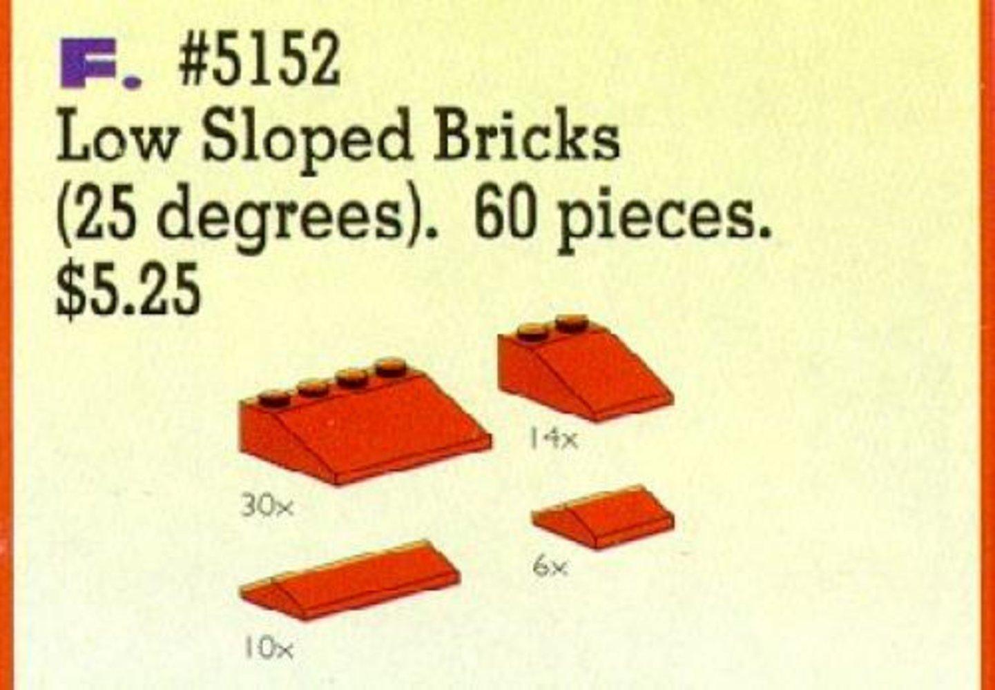 Roof Bricks, Red, 25 Degrees