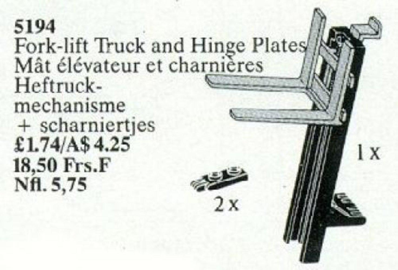 Hinge Plate, Fork-Lift