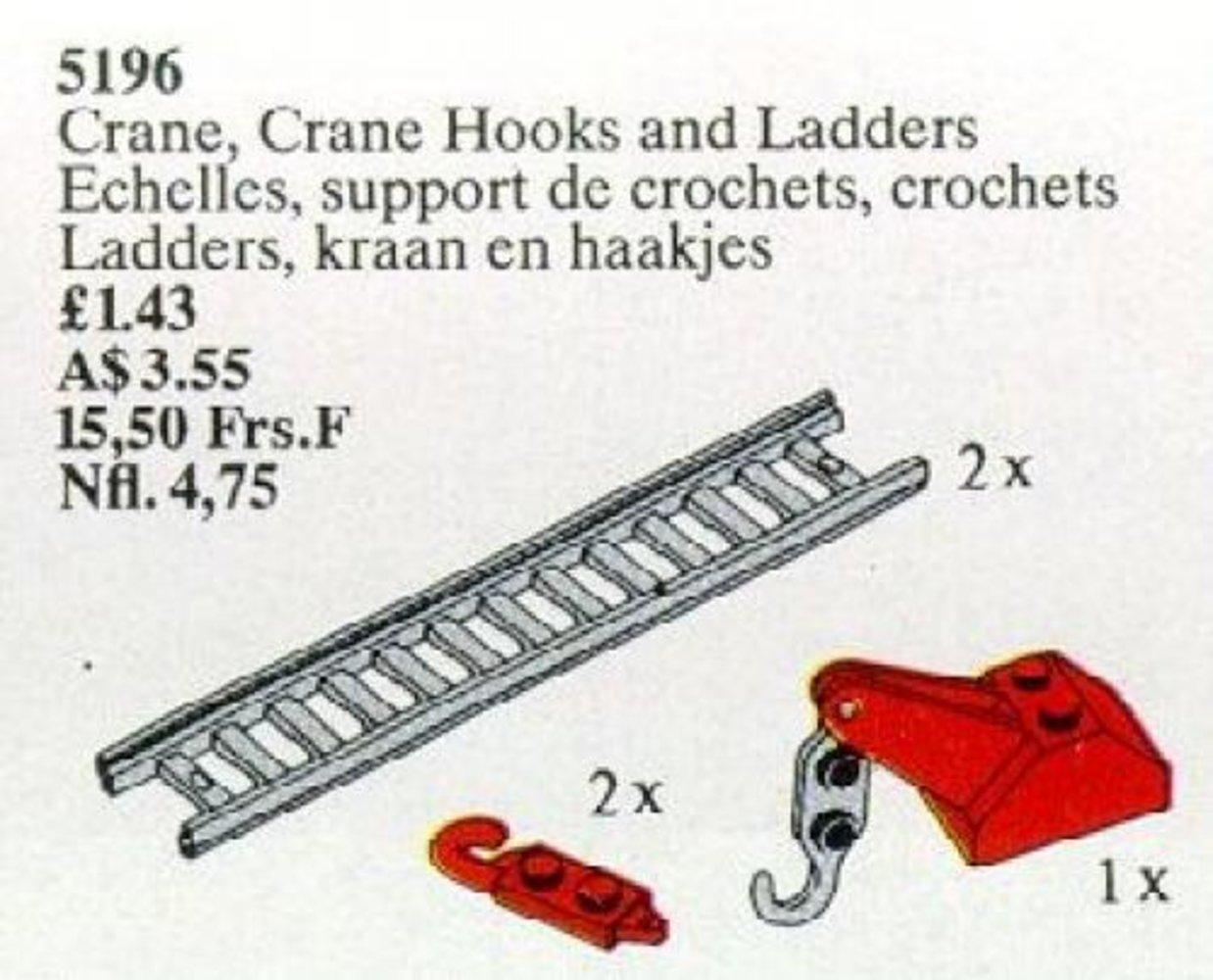 Crane, Crane Hooks and Ladders