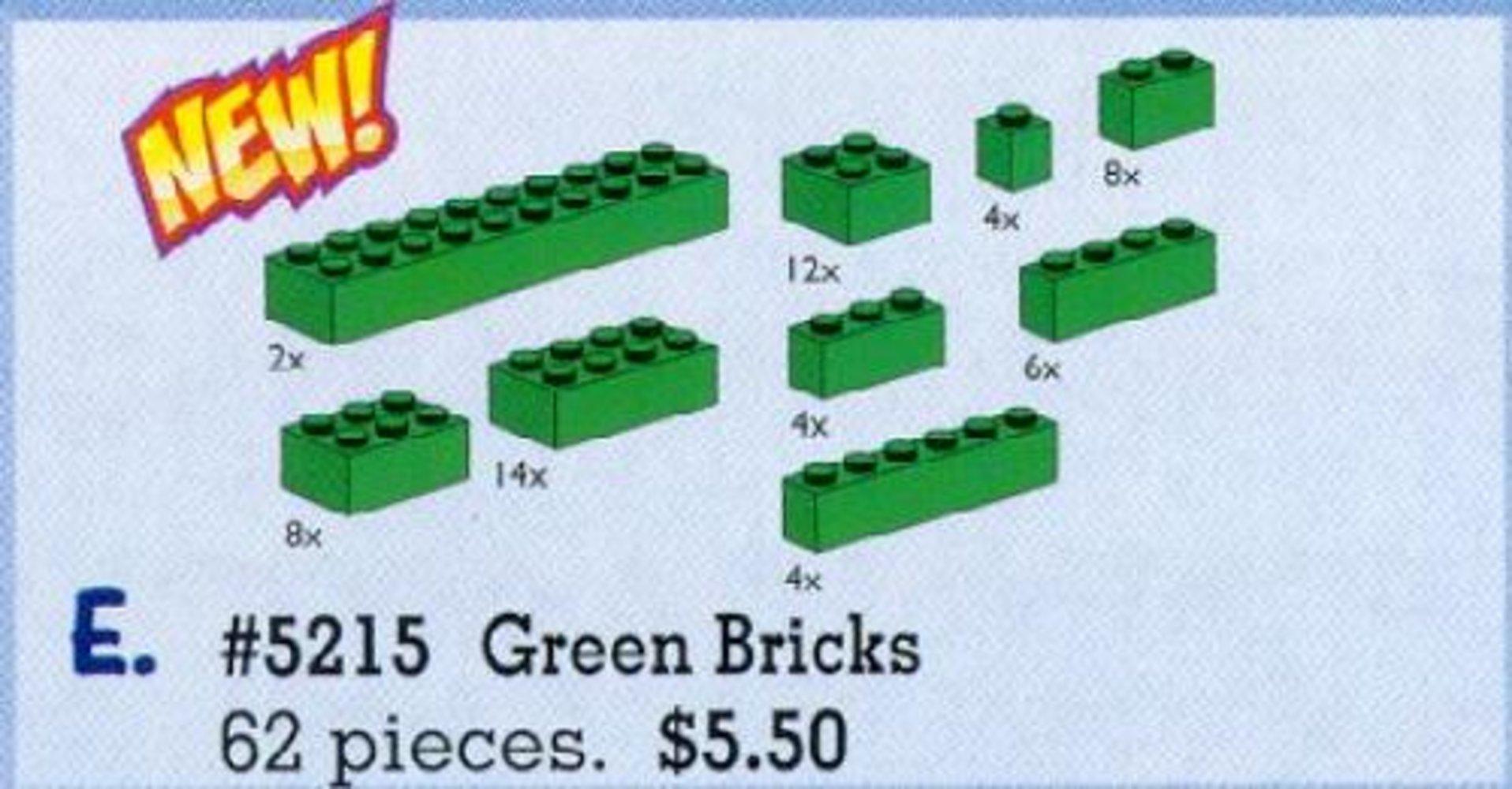 Bricks Assorted, Green