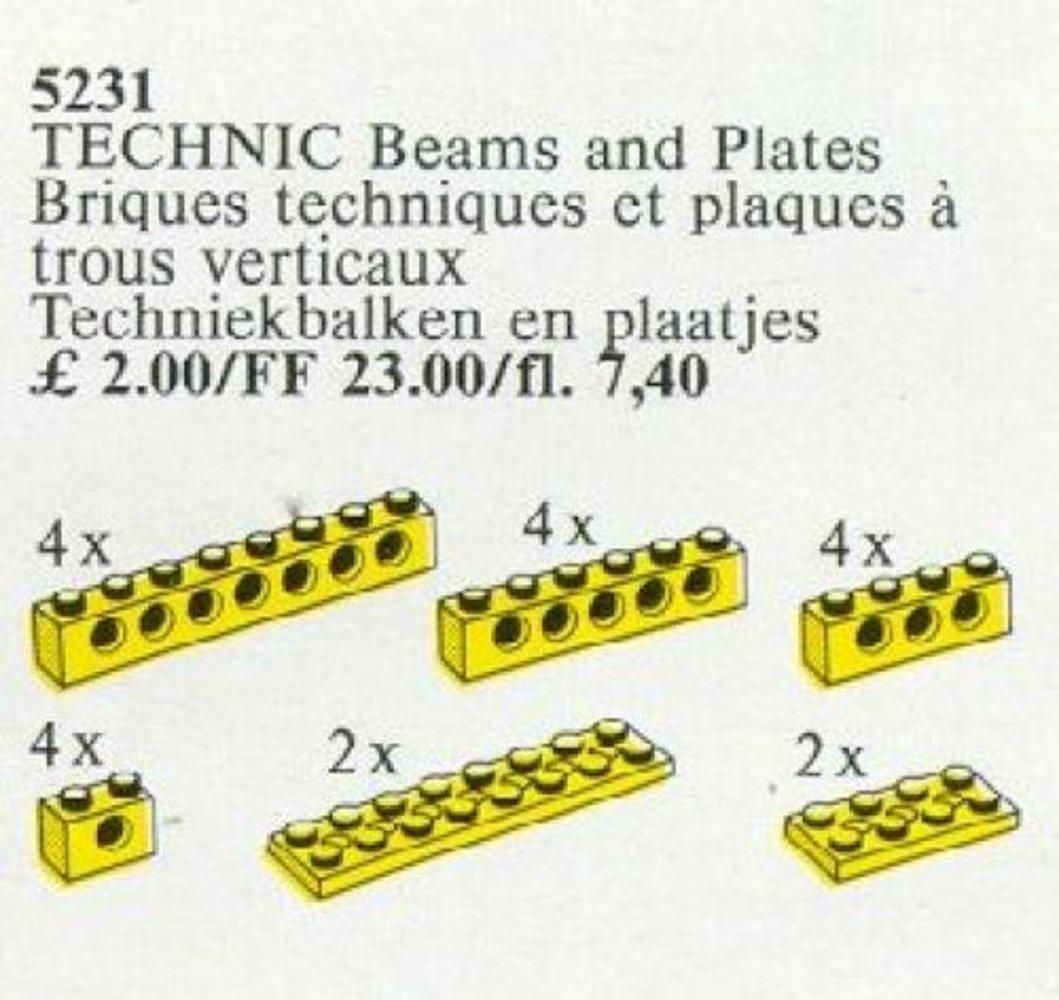TECHNIC Beams and Plates [Yellow]