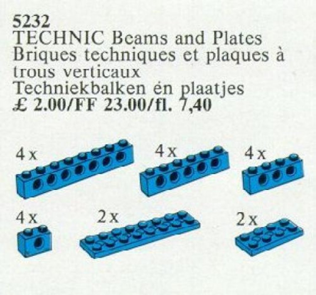 TECHNIC Beams and Plates [Blue]