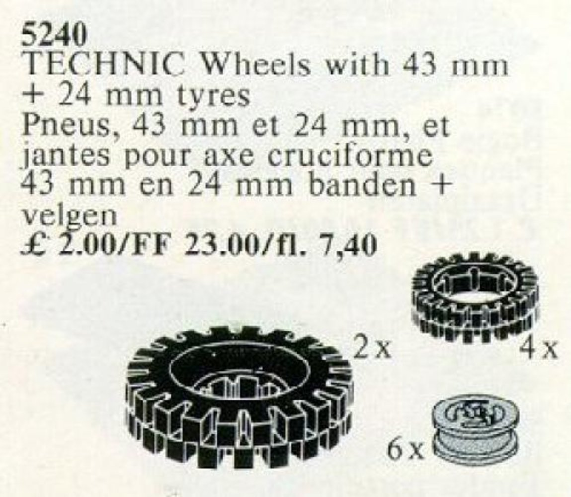 TECHNIC Wheels with 43 mm + 24 mm tyres