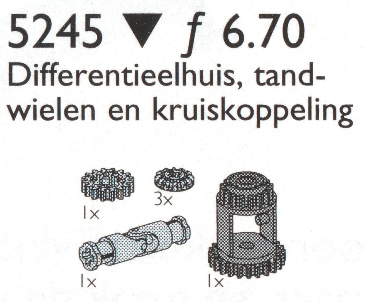 Differential Gears / Universal Joint, Differential Housing and Wheels