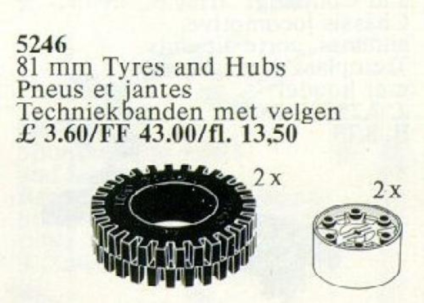 X-Large Tires / 81 mm Tyres and Hubs