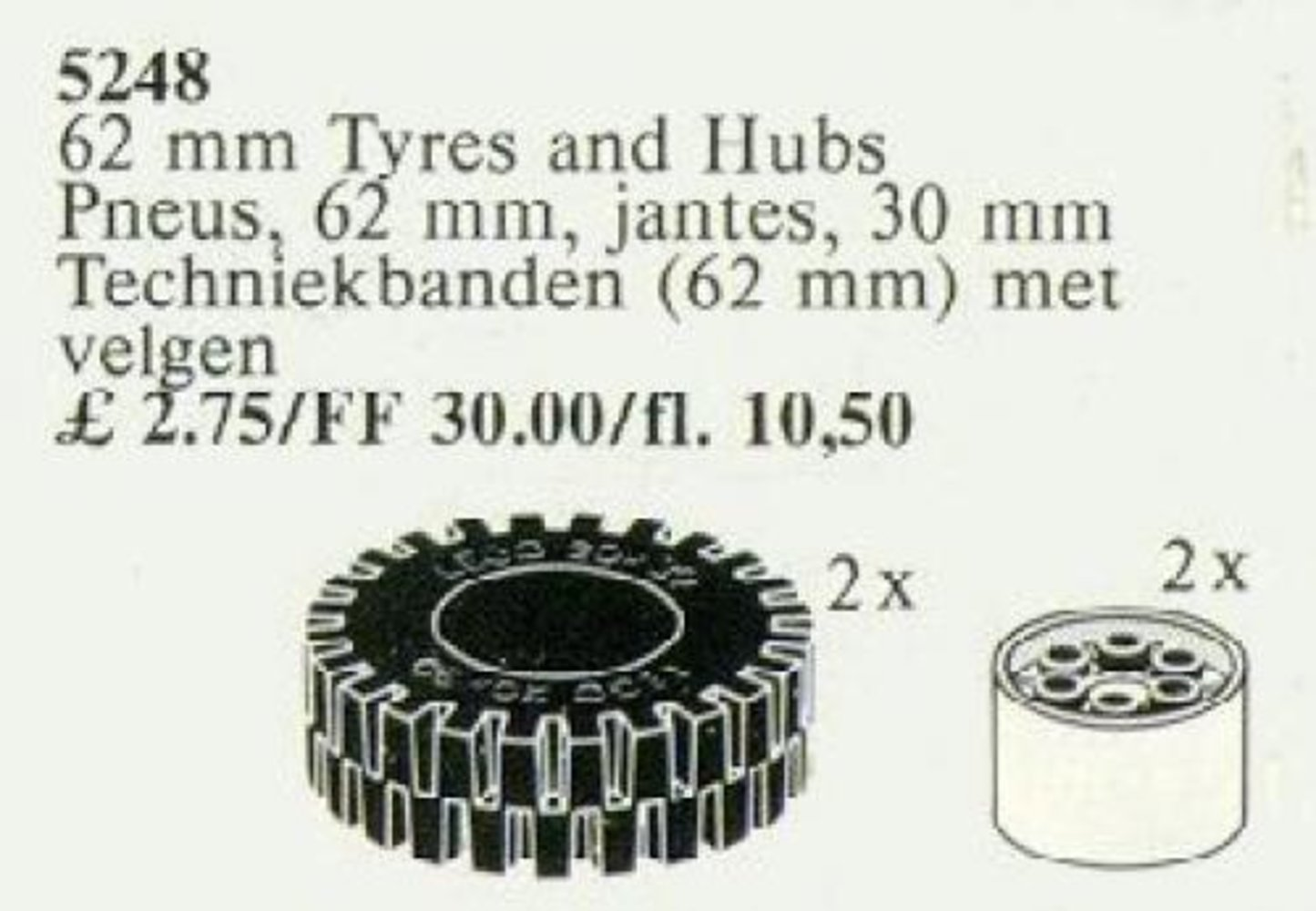 62 mm Tires and Hubs / 62 mm Tyres and Hubs