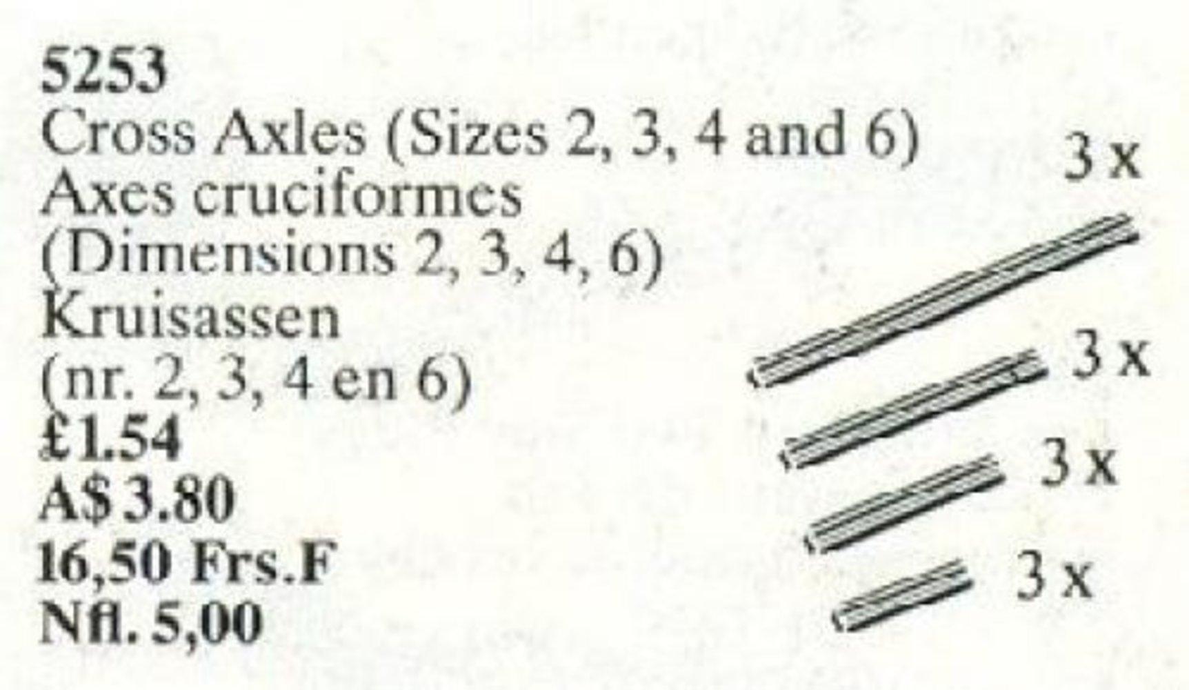 Cross Axles (Sizes 2, 3, 4, 6)