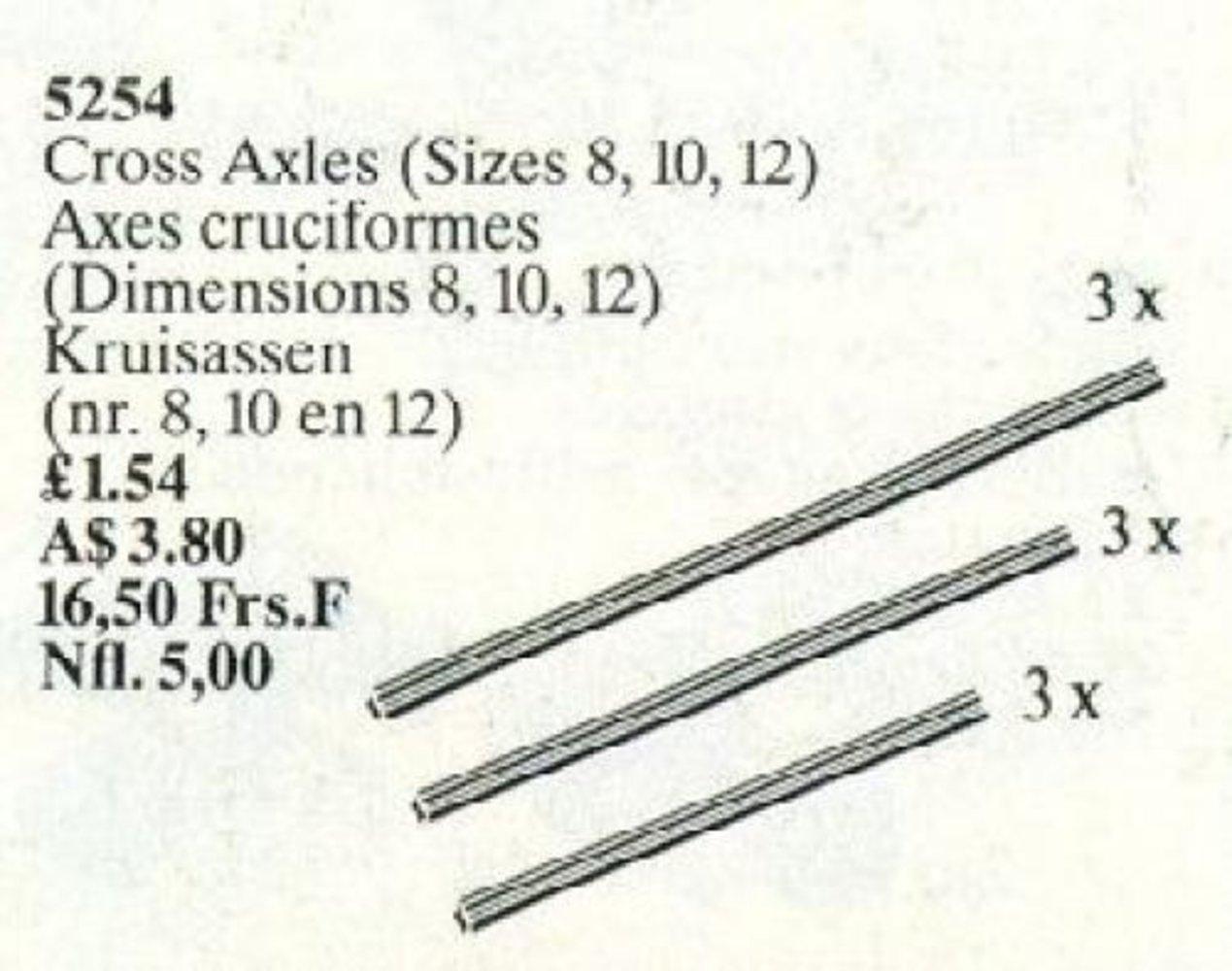 Cross Axles (Sizes 8, 10, 12)