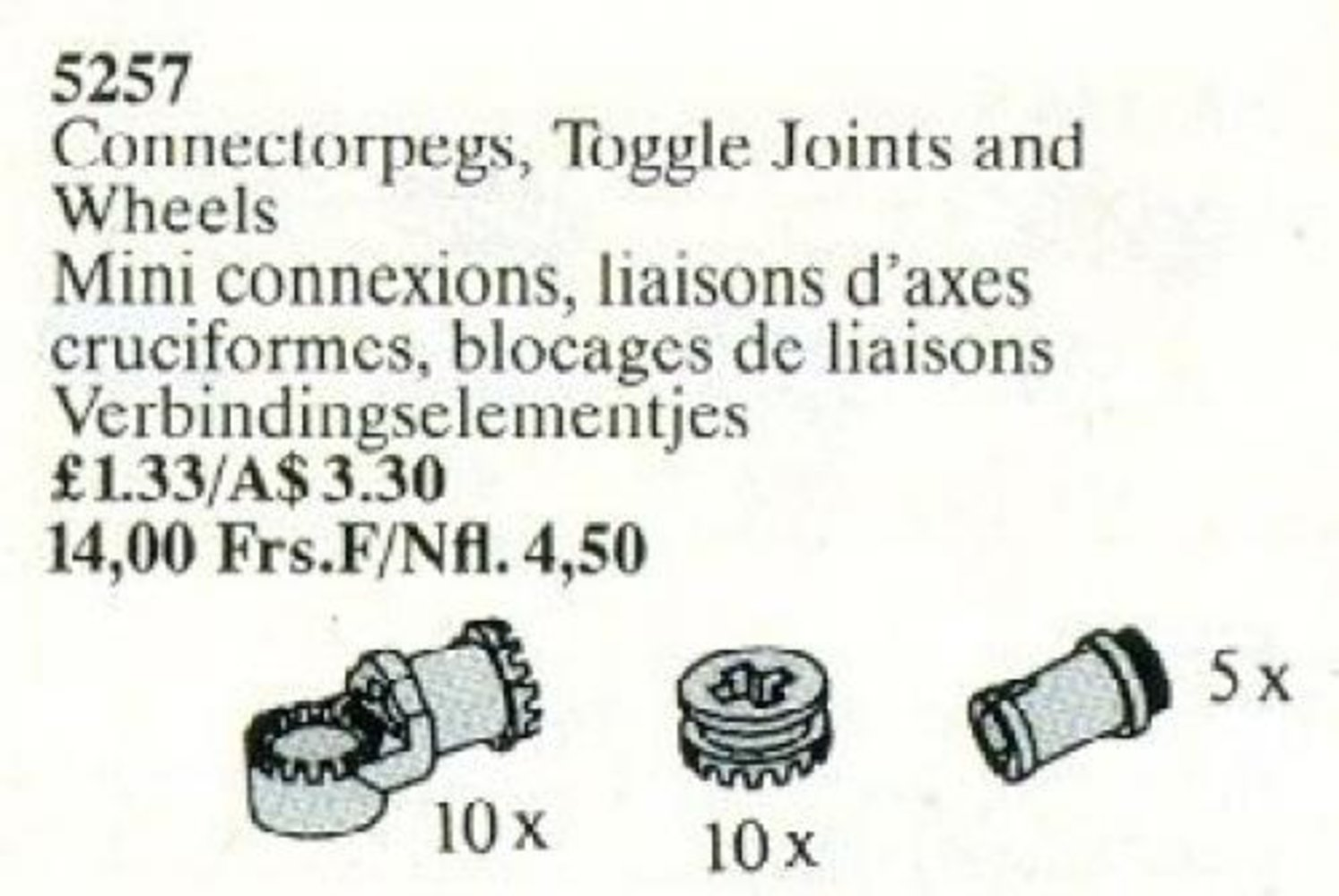 Connector Pegs, Toggle Joints, and Wheels